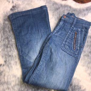 7FAMK Dojo Zippered Flare Jeans 27